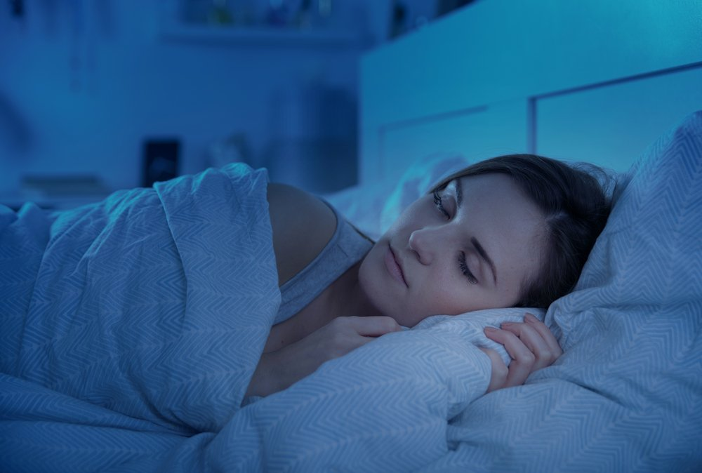 Image shows lady sleeping to highlight how important it is to manage your mental health through a career change